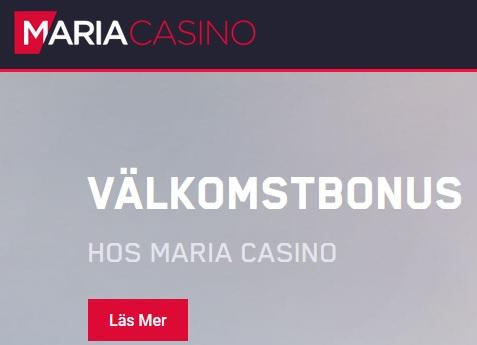 Spela Baccarat och Blackjack hos Maria Casino!