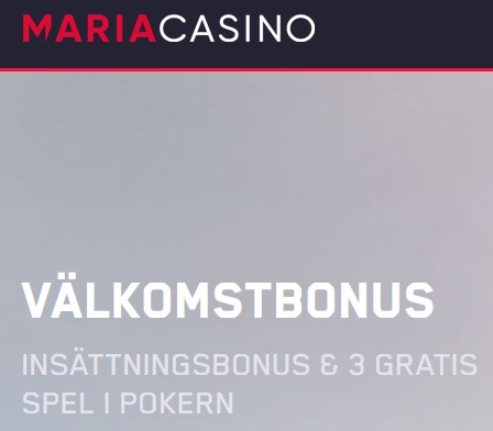 Börja uppleva mänsklig kontakt hos Maria casino och deras live casino nu!